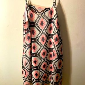 Mini dress with triangle cut out in back